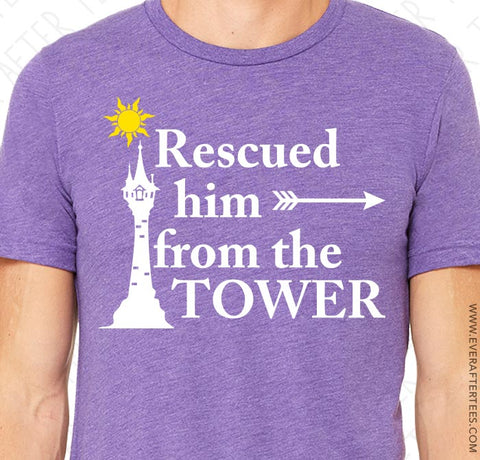 Rescued Him From the Tower T-shirt . Pride Couples Shirts for Disney .
