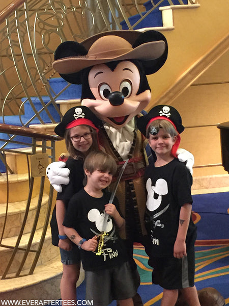Mickey And Minnie Couples Shirts Disney Family Pirate T...