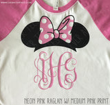 Raglan Monogram Disney Family Vacation Shirt