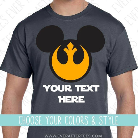 Rebel Alliance Mouse Ears T-shirt | Star Wars Land | Matching Disney Family Vacation Shirts for the Whole Family  | Mickey