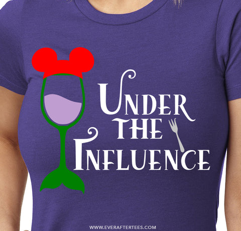 Under the Influence T-shirt . Disney Food and Wine Festival Tshirt .