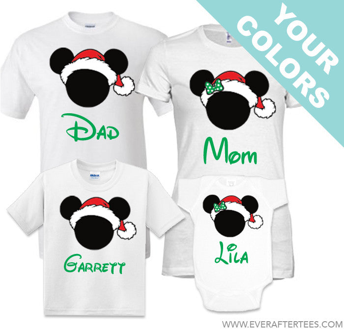 CUSTOMIZE Color & Styles - Disney Family Vacation Christmas Party T-Shirts . MVMCP shirts . Christmas in Disney .