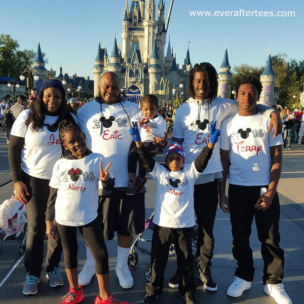 The ORIGINAL New Years in Disney 2019, 2020 Family Vacation Tees. Matching Mouse Ears