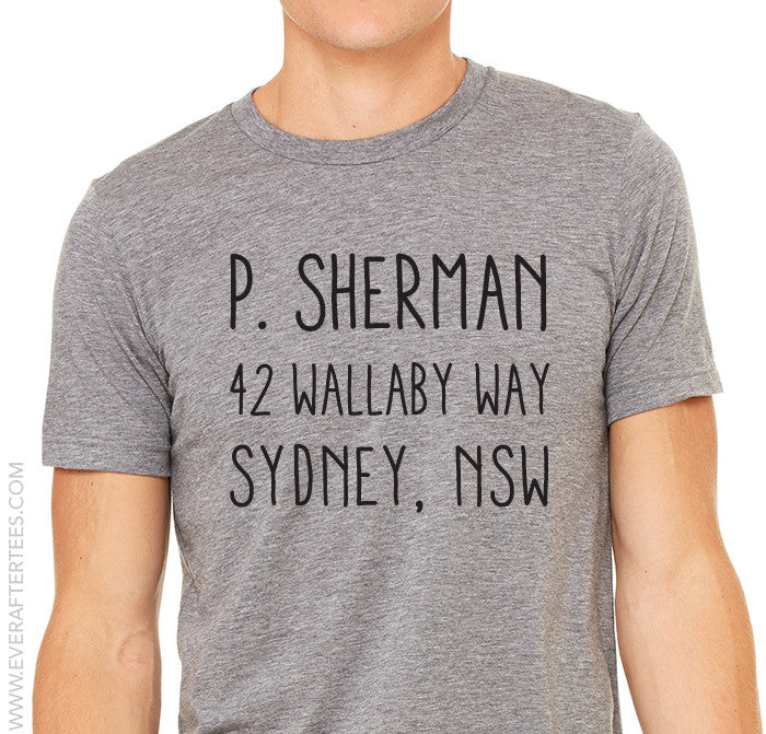 P Sherman 44 Wallaby Way Sydney NSW