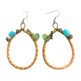 HAWAIIAN LAUHALA EARRINGS. Made in Hawaii. Pandanus Tree. Lauhala Weaving.