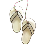 HAWAII STAINED GLASS Beveled Hawaii Slippers (Slippahs) Flip Flops. Sun Catcher. Made in Hawaii. Aloha.