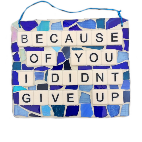 RECOVERY SOBRIETY ART. Stained Glass Mosaic. Inspirational Quotes Affirmations.
