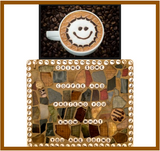 COFFEE LOVERS MOSAIC. Stained Glass Wall Art. Inspirational Quotes Affirmations.