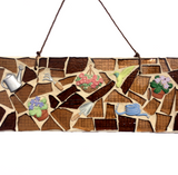 GARDEN GARDENING LOVERS. Stained Glass Mixed Media Mosaics.