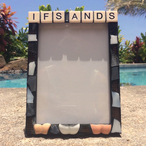 FUNNY GAG GIFT. Stained Glass Mosaic Frame. Barbie Dolls.