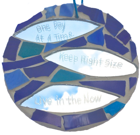 RECOVERY SLOGANS MOSAICS Stained Glass Mosaic Ornaments. Motivational Quotes Affirmations. Sponsor Sponsee Gifts. Sobriety Gifts. Sober Gift