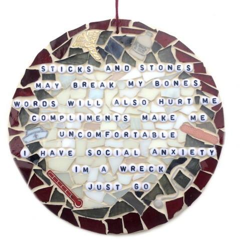 FUNNY GAG GIFTS Stained Glass Mosaic Inspirational Motivational Quotes Affirmations. Feel Good Art. Birthday Gifts. Housewarming Gifts