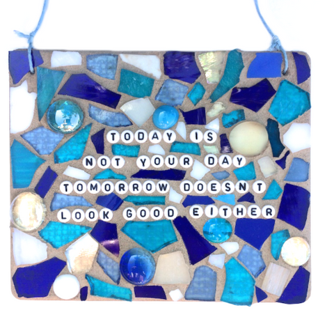 SELF-LOVE WELL-Being. Meditation Yoga. Inspirational Quotes. Stained Glass Mosaic.