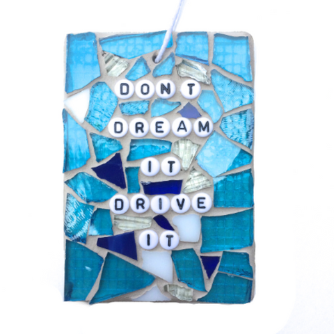 MOTORCYCLE BIKE CAR Lovers. Funny Gag Gifts. Stained Glass Mosaic. Quotes Affirmations.
