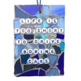 CAR LOVERS ENTHUSIASTS. Funny Gag Gifts. Stained Glass Mosaic. Quotes Affirmations.