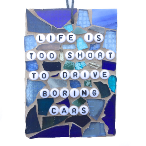 CAR LOVERS ENTHUSIASTS. Funny Gag Gifts. Stained Glass Mosaic. Quotes Affirmations. Feel Good Art. Birthday Gifts. Gifts for Him.