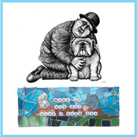 DOG PET LOVERS Love My Dog Stained Glass Mosaics Inspirational Quotes Affirmations