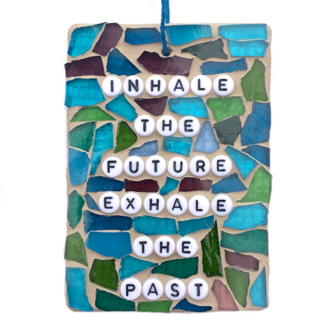 MEDITATIONAL WELLBEING GIFTS. Stained Glass Mosaic. Inspirational Motivational Quotes Affirmations.