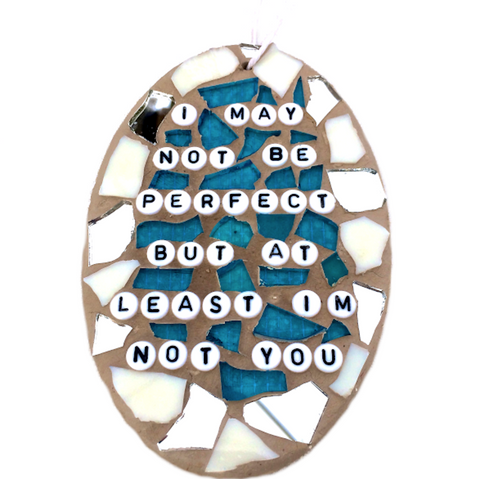 HUMOROUS MOSAIC ORNAMENT. Adult Humor Gifts. Fun Gag Gifts.