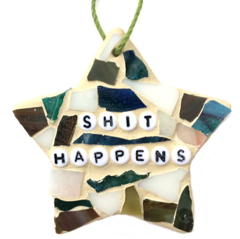 Motivational Quotes Inspirational Affirmations Stained Glass Mosaic Ornaments Hangings