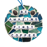 COFFEE LOVERS COLLECTION. Stained Glass Mosaics. Funny Gag Gifts. Inspirational Quotes.