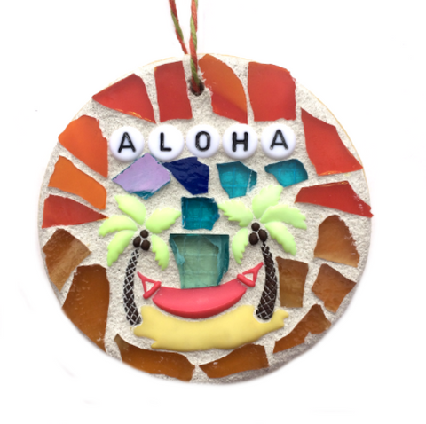 HAWAII MOSAIC ORNAMENT. Slippahs Slippers. Made in Hawaii. Hawaii Souvenirs.  Hawaii Gifts.