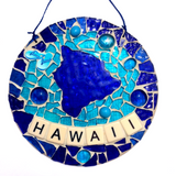 HAWAII ISLAND Wall ART. Stained Glass Mosaic and Mirrors. Made in Hawaii. Slippers. Slippahs.