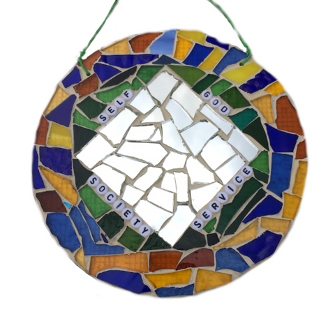 RECOVERY SOBRIETY GIFTS. Stained Glass Mosaic. Inspirational Motivational Quotes Affirmations.