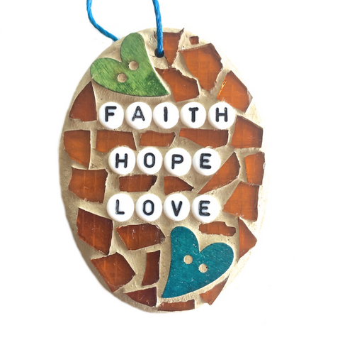 SELF-LOVE WELLBEING. Wall Art Stained Glass Mosaic Ornaments. Motivational Inspirational Affirmations.