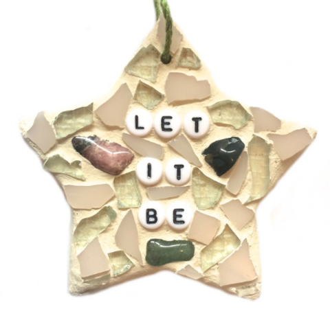 WELLBEING SELF-LOVE Wall Art. Stained Glass Mosaic Ornaments. Motivational Inspirational Affirmations.