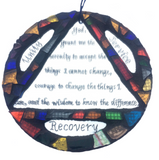 RECOVERY GIFTS COLLECTION.. Serenity Prayer. Stained Glass Mosaics and Mirrors. Triangle & Circle.
