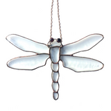 DRAGONFLIES & DAMSELFLIES BEVELS. Stained Glass Inspirational Hanging.