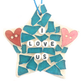 WELLBEING SELF-LOVE Stained Glass Mosaic Ornaments. Motivational Inspirational Affirmations.