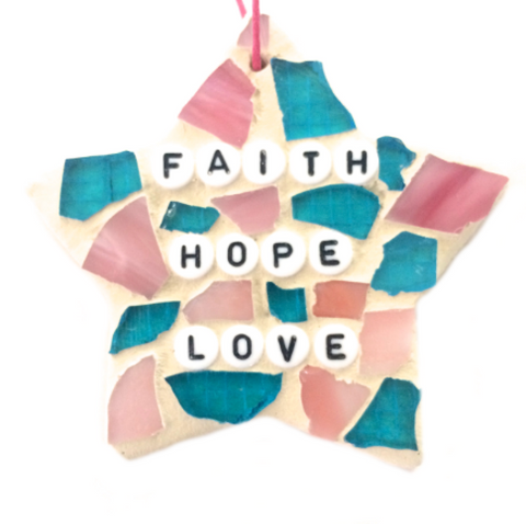 POSITIVE, INSPIRATIONAL, MOTIVATIONAL Stained Glass Mosaic. Motivational Inspirational Affirmations.