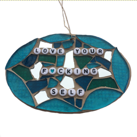 FUN GAG GIFTS. Stained Glass Mosaic Ornaments. Adult Humor Gifts.