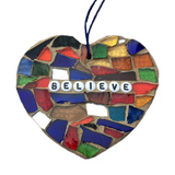 SELF-LOVE WELLBEING Wall Art. Stained Glass Mosaic Ornaments. Motivational Inspirational Affirmations. Yoga Meditation.