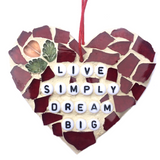WELLBEING SELF-LOVE Wall Art Stained Glass Mosaic Ornaments. Motivational Inspirational Affirmations. Yoga Meditation. Mindfulness. Birthday