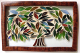 Family Tree Inspirational Stained Glass Mosaic Panel