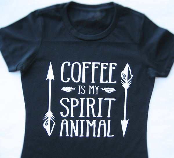 Coffee Is My Spirit Animal Shirt, Funny t-shirt, Coffee shirt, Coffee lover gift. - Fun Trendy Tees