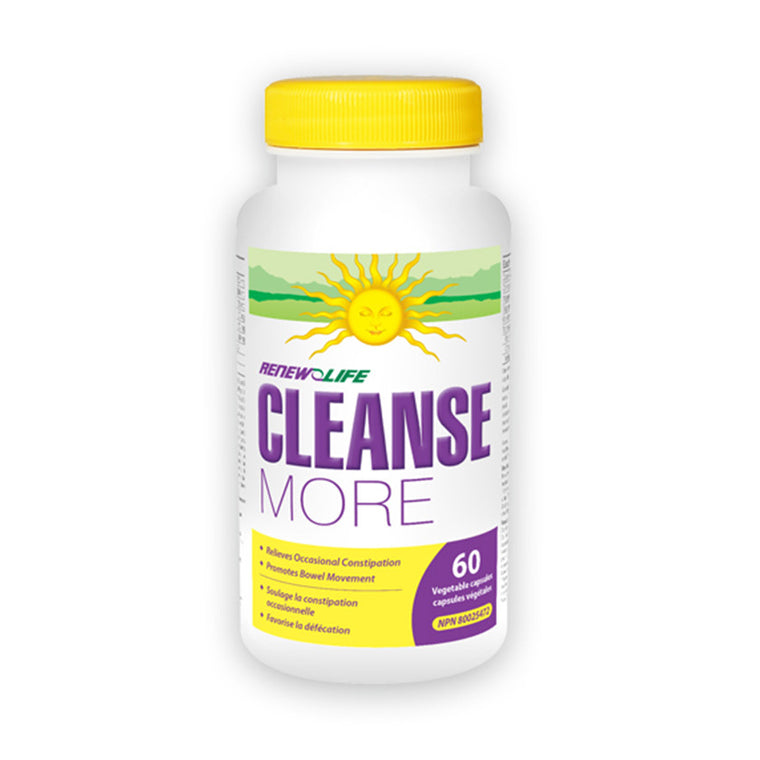 Renew Life CleanseMORE - 120 Vegetable Capsules - MapleVita.net