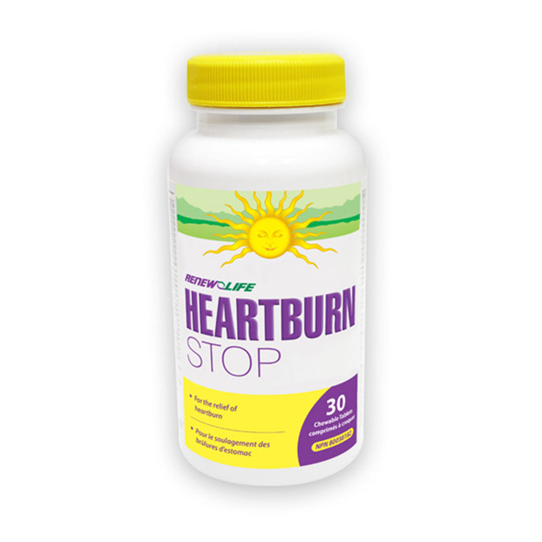 Renew Life HeartburnSTOP -30 Chewable Tablets - MapleVita.net