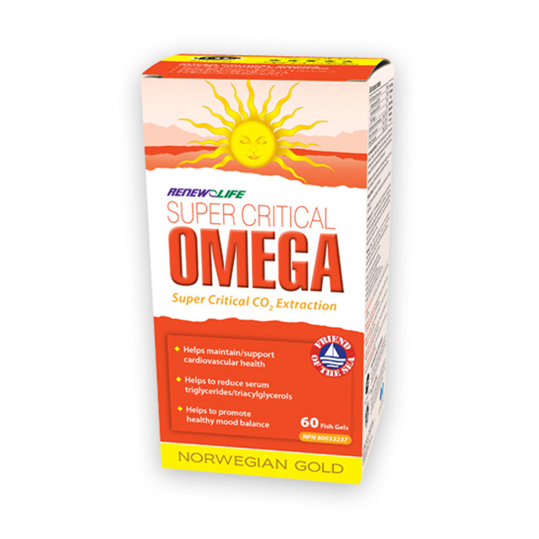 Renew Life Super Critical Omega - 60 Fish Gels - MapleVita.net