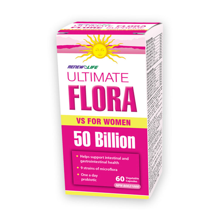 Renew Life Ultimate Flora Vaginal Support 50 Billion - MapleVita.net