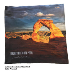 Multifunction Gaiter / Face Mask, Made in USA - National Park Collection