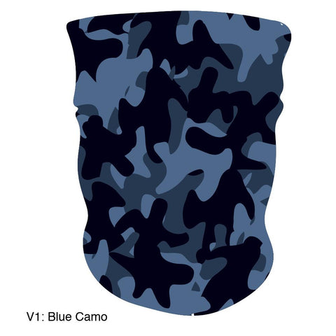 Multifunction Gaiter / Face Mask, Made in USA - Camo