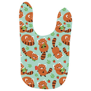 Red Panda Soft Baby Bib