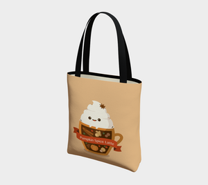Pumpkin Spice Latte Tote - Vegan Leather