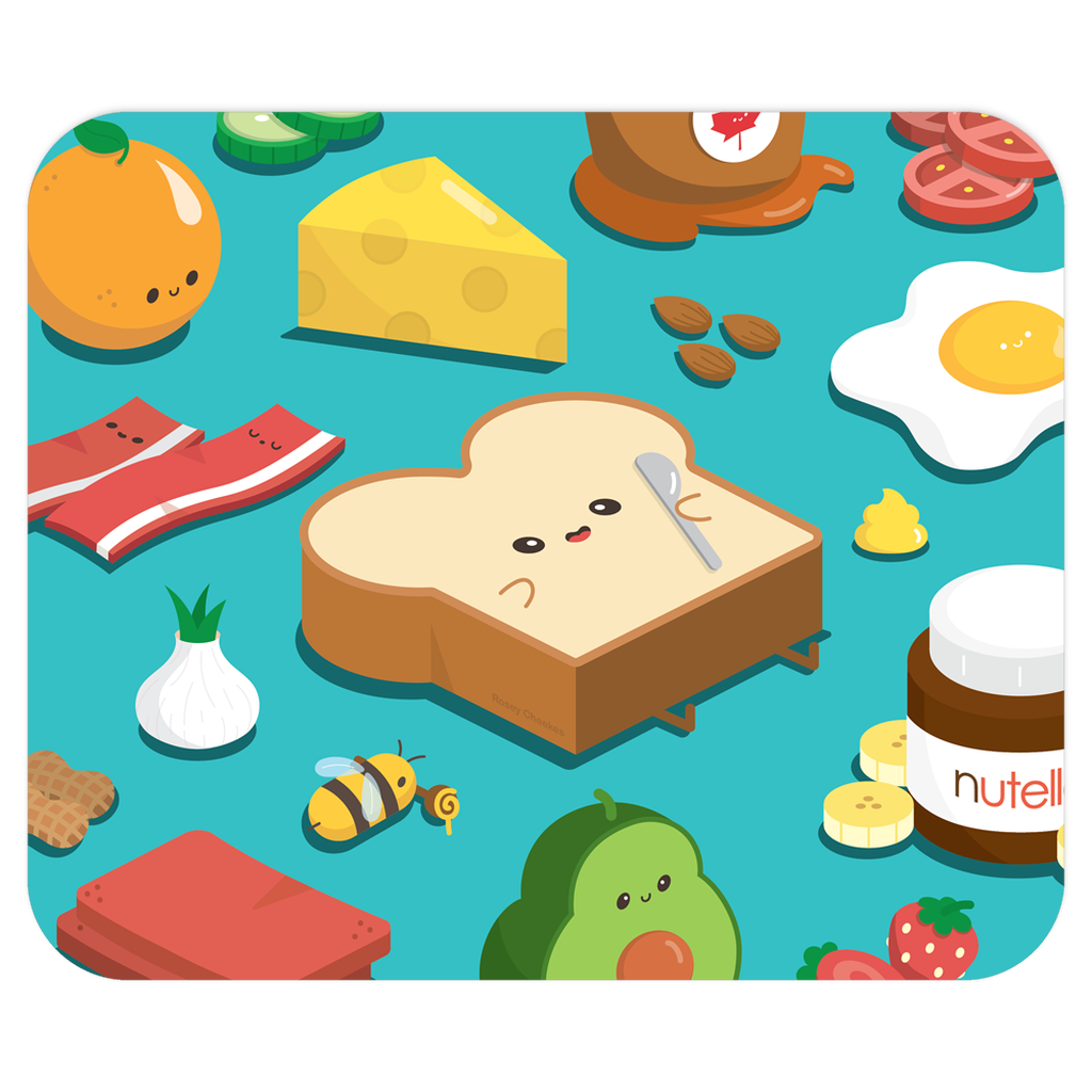 Toast Toppings Mouse Pad