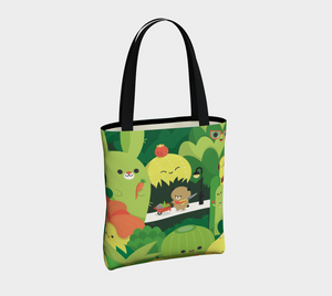 Succulent Garden Tote - Vegan Leather