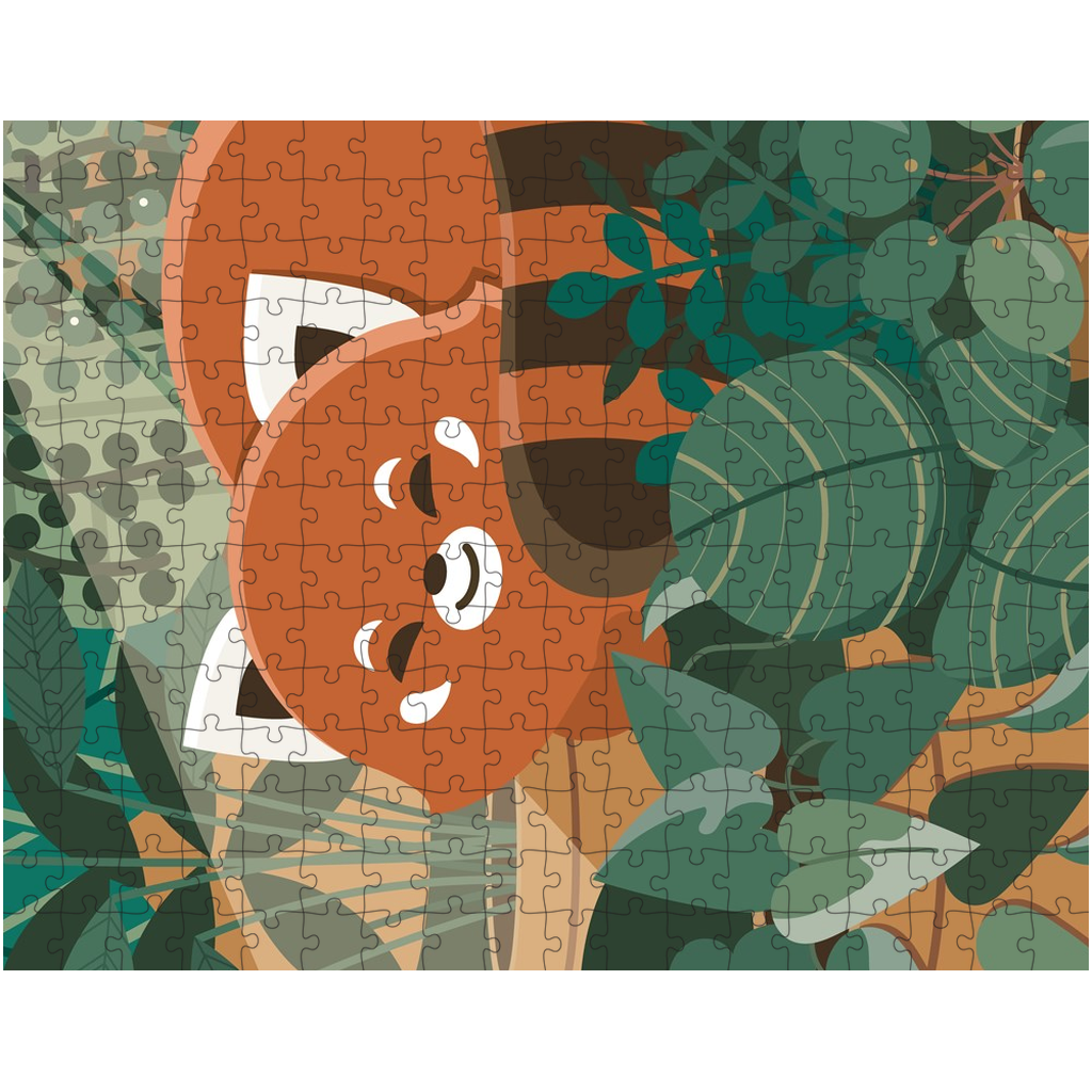 Red Panda in Ferns Puzzle